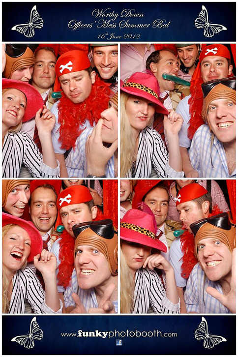 photo booth hire winchester at Worthy Down Officer