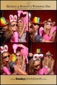 3-ladies in with props in the photo booth