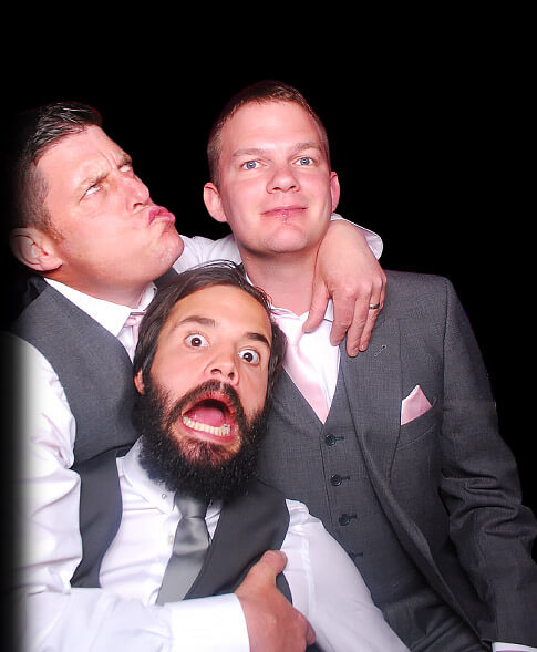 Gents in our wedding photo booth