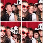 Guests getting a bit crazy in the photobooth